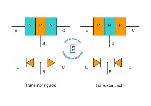 Cấu tạo của transistor NPN và PNP