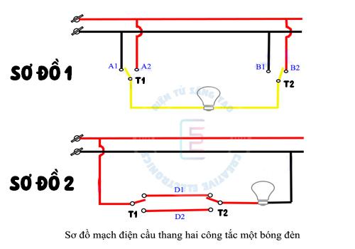 Nguyên lý hoạt động mạch điện cầu thang