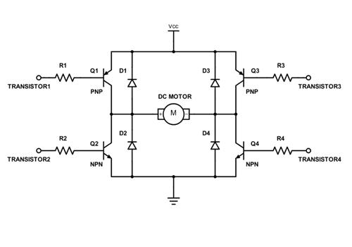 Diode bảo vệ mạch cầu H
